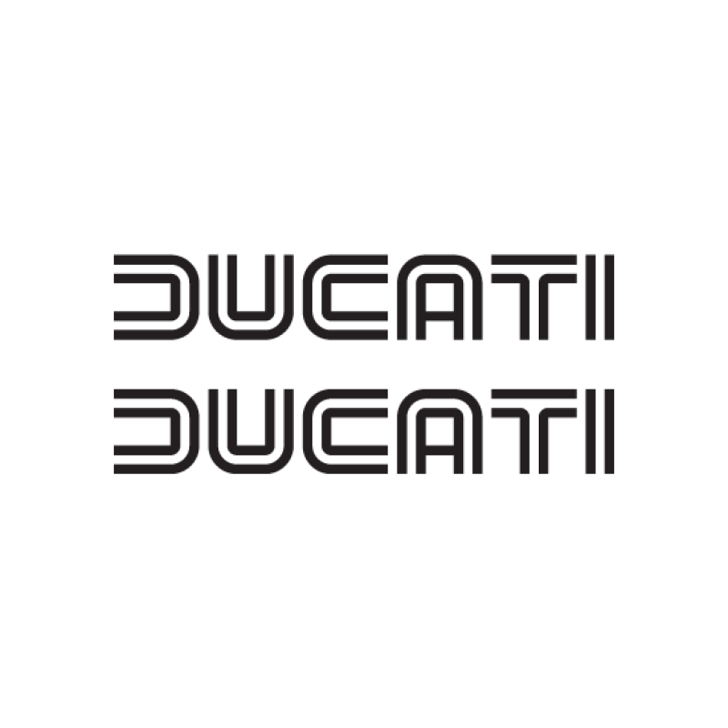 Ducati Old School Motor Stickers Motodesign