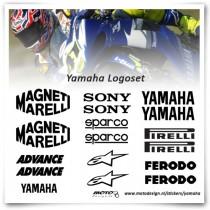 Yamaha Superbike Sponsor Stickers