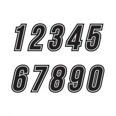 Racenummers: BB-Outline