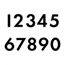 Startnummers Futura, voor ONK, OW CUP en ZAC