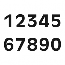 Racenummmers/Startnummers, voor ONK, OW CUP en ZAC