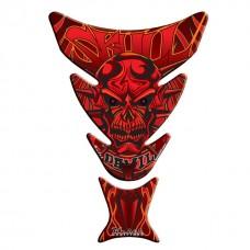 Tankpad Skull (rood-Oranje)