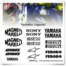 Yamaha Superbike Sponsor Stickers