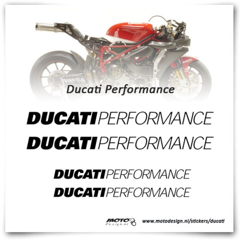 Ducati Performance Stickers
