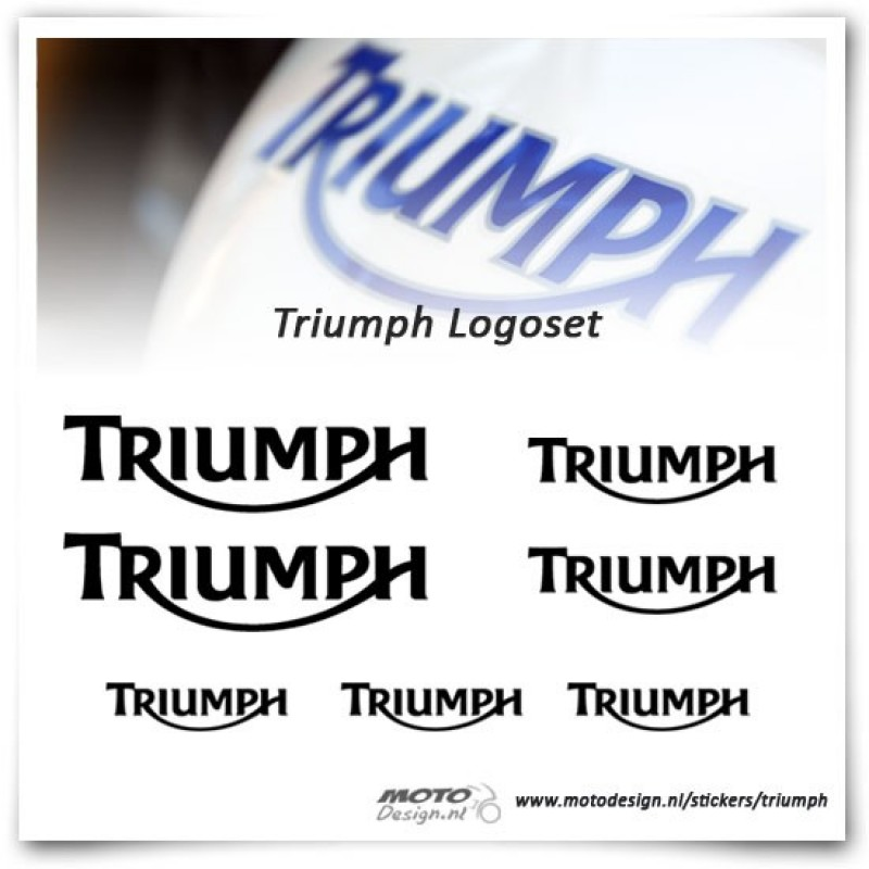 Triumph Logo Sticker set